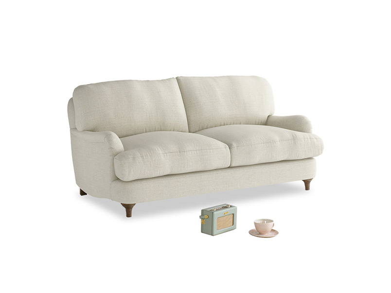 Small Jonesy Sofa in Stone Vintage Linen