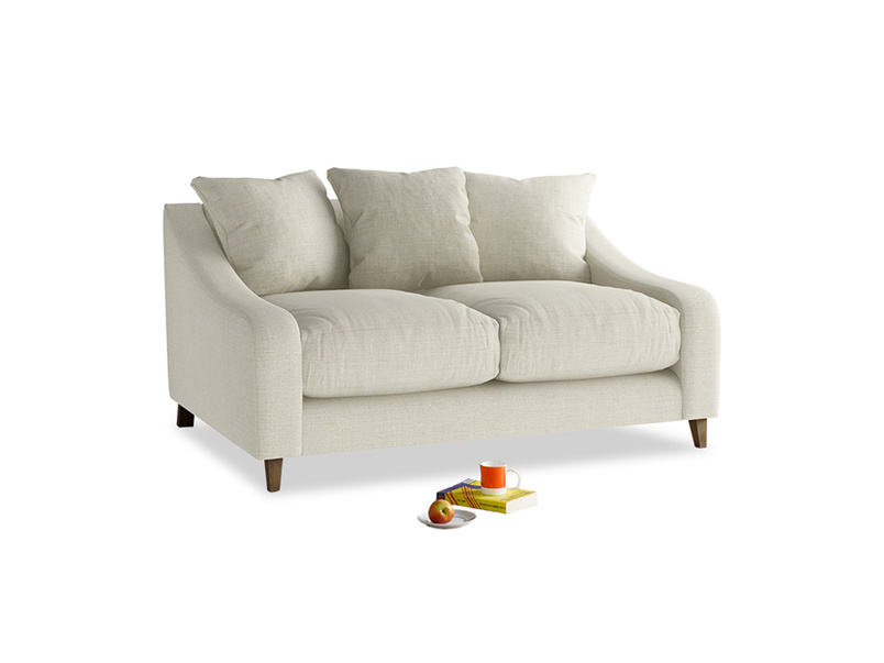 Small Oscar Sofa in Stone Vintage Linen