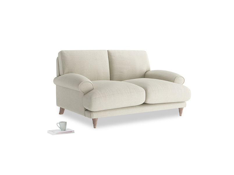 Small Slowcoach Sofa in Stone Vintage Linen