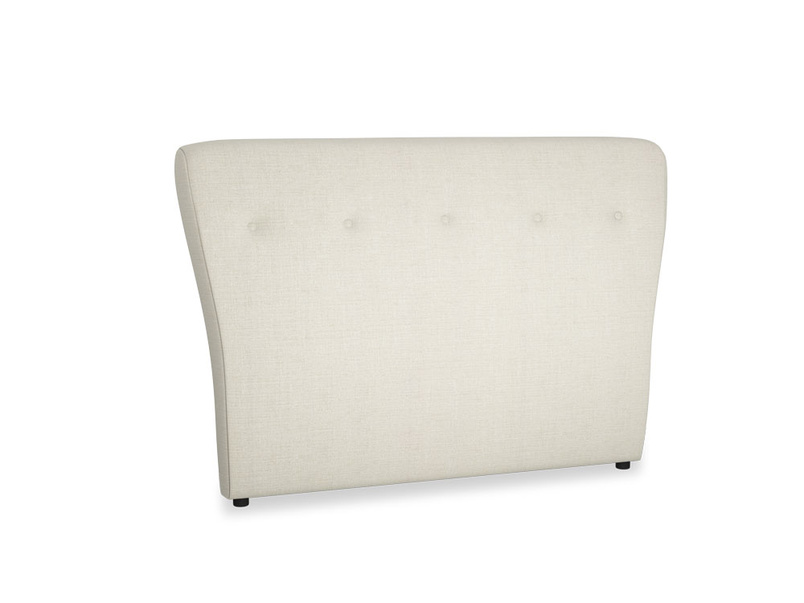 Double Smoke Headboard in Stone Vintage Linen