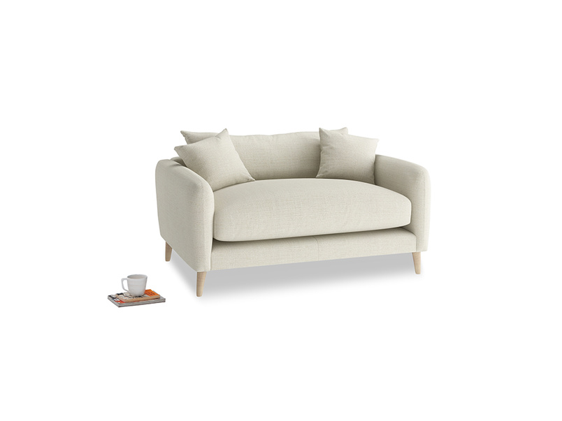 Squishmeister Love Seat in Stone Vintage Linen