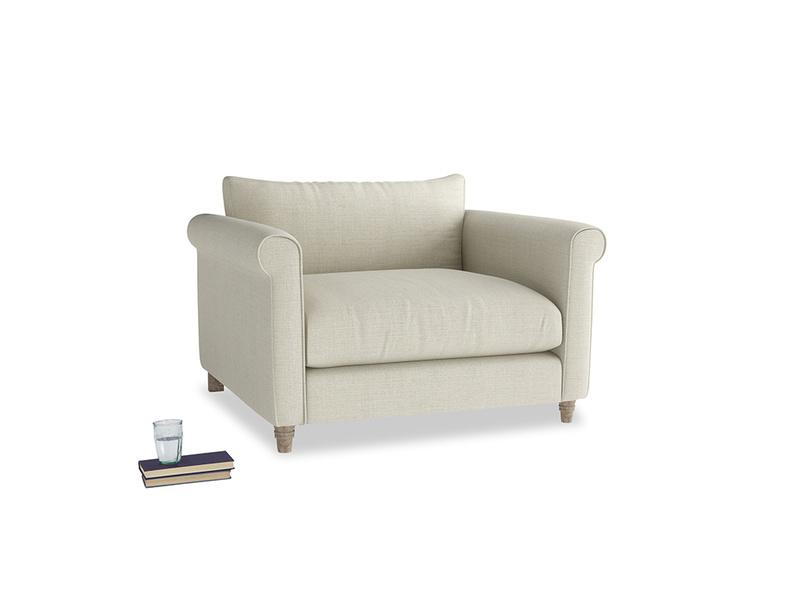 Weekender Love seat in Stone Vintage Linen