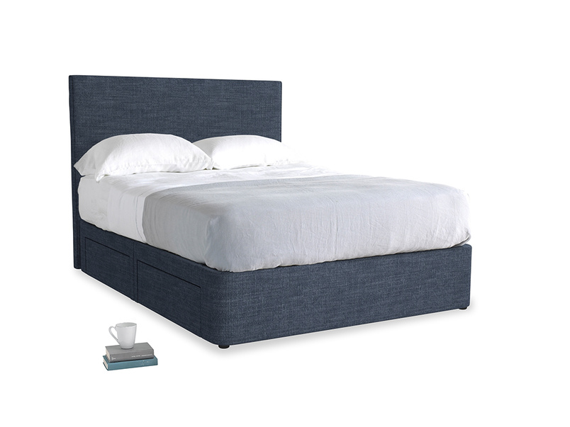 Selvedge Blue Laundered Linen Tight Space With Tall Piper