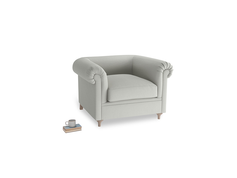 Humblebum Armchair in Mineral grey clever linen