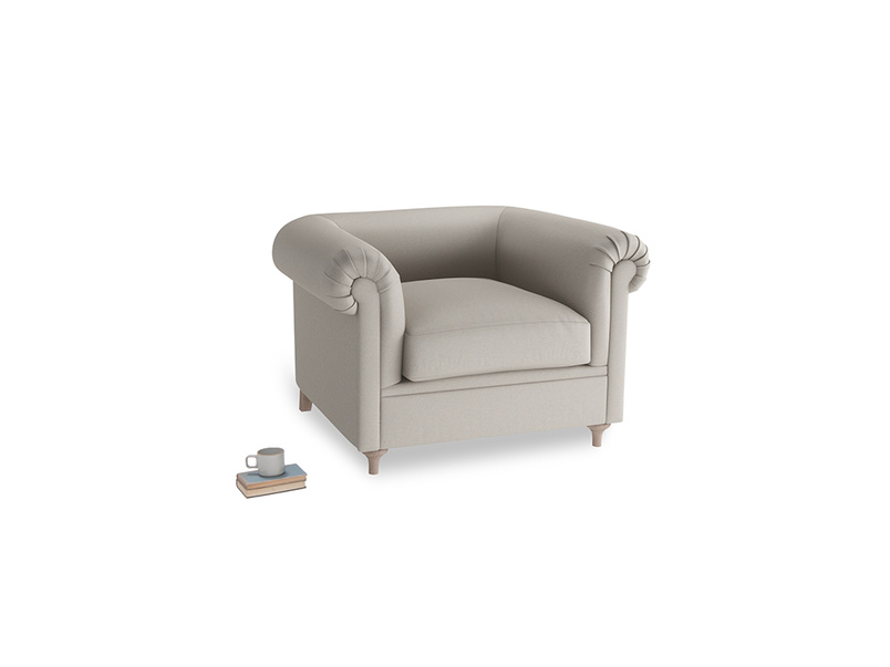Humblebum Armchair in Sailcloth grey Clever Woolly Fabric