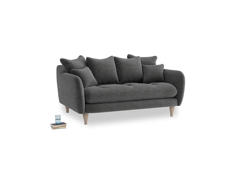Small Skinny Minny Sofa in Shadow Grey wool