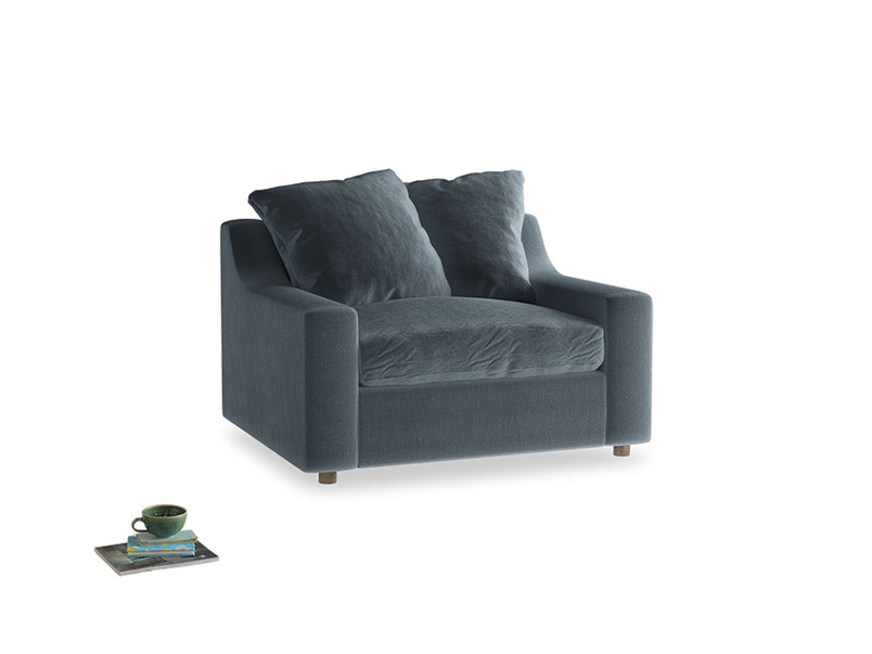 Cloud love seat sofa bed in Odyssey Clever Deep Velvet