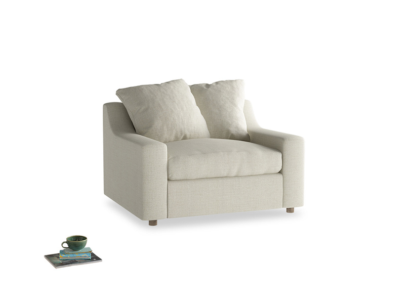 Cloud love seat sofa bed in Stone Vintage Linen