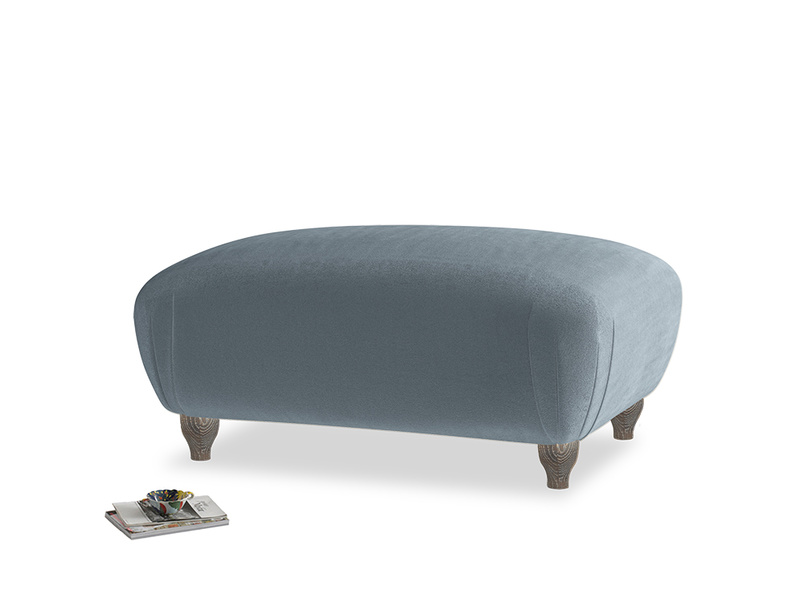 Rectangle Homebody Footstool in Odyssey Clever Deep Velvet