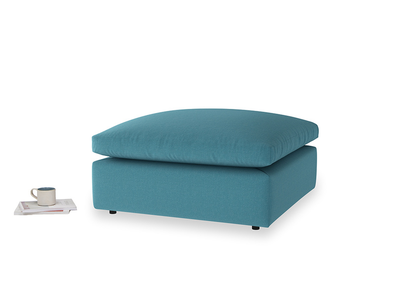 Cuddlemuffin Footstool in Lido Brushed Cotton