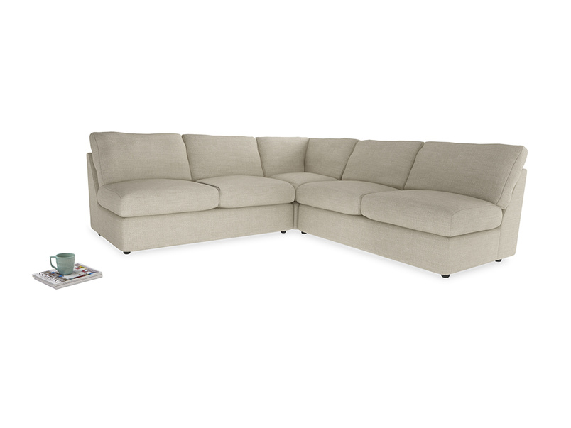 Even Sided  Chatnap modular corner storage sofa in Shell Clever Laundered Linen