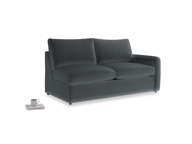 Chatnap Sofa Bed in Dark grey Clever Deep Velvet with a right arm