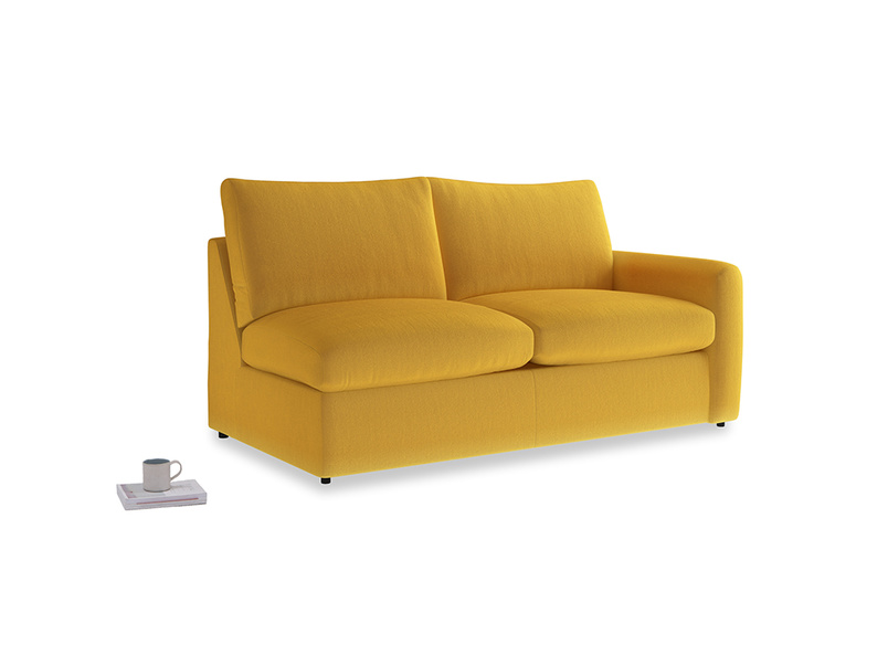 Chatnap Sofa Bed in Pollen Clever Deep Velvet with a right arm