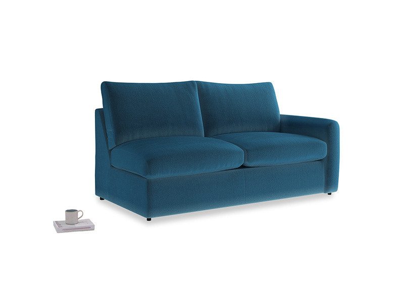 Chatnap Sofa Bed in Twilight blue Clever Deep Velvet with a right arm