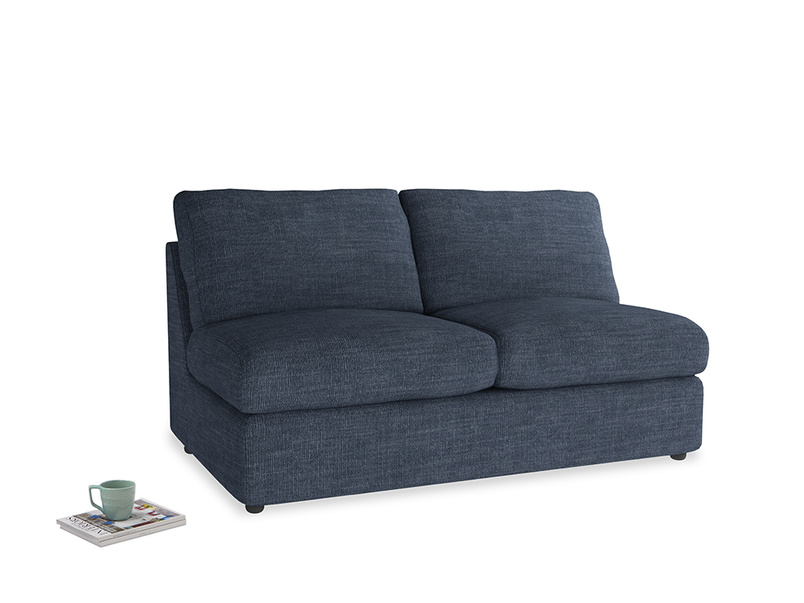Chatnap Sofa Bed in Selvedge Blue Clever Laundered Linen