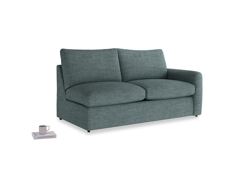 Chatnap Sofa Bed in Anchor Grey Clever Laundered Linen with a right arm
