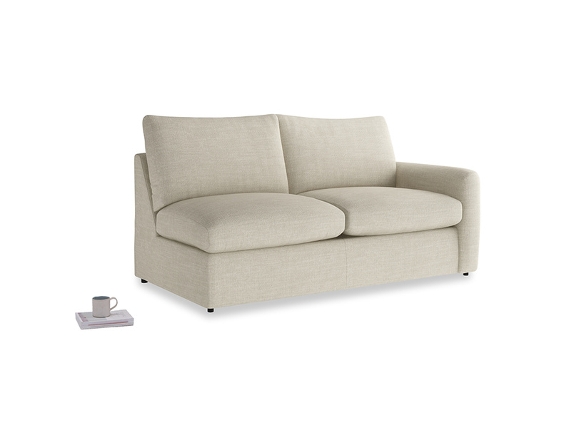 Chatnap Sofa Bed in Shell Clever Laundered Linen with a right arm