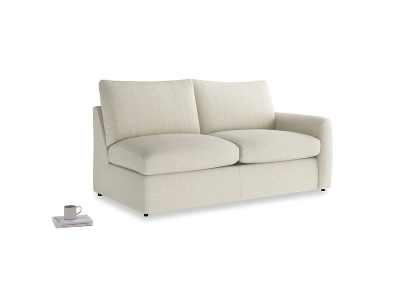 Chatnap Sofa Bed in Stone Vintage Linen with a right arm