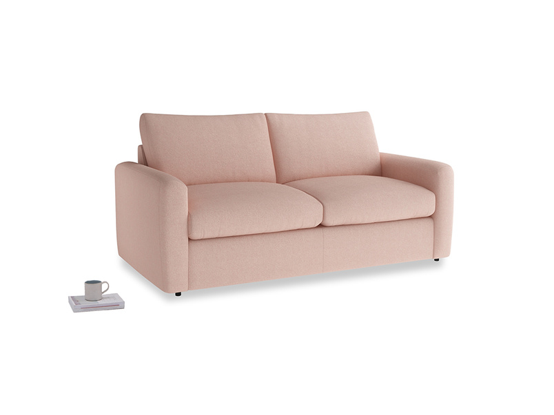 Chatnap Storage Sofa in Pale Pink Clever Woolly Fabric with both arms