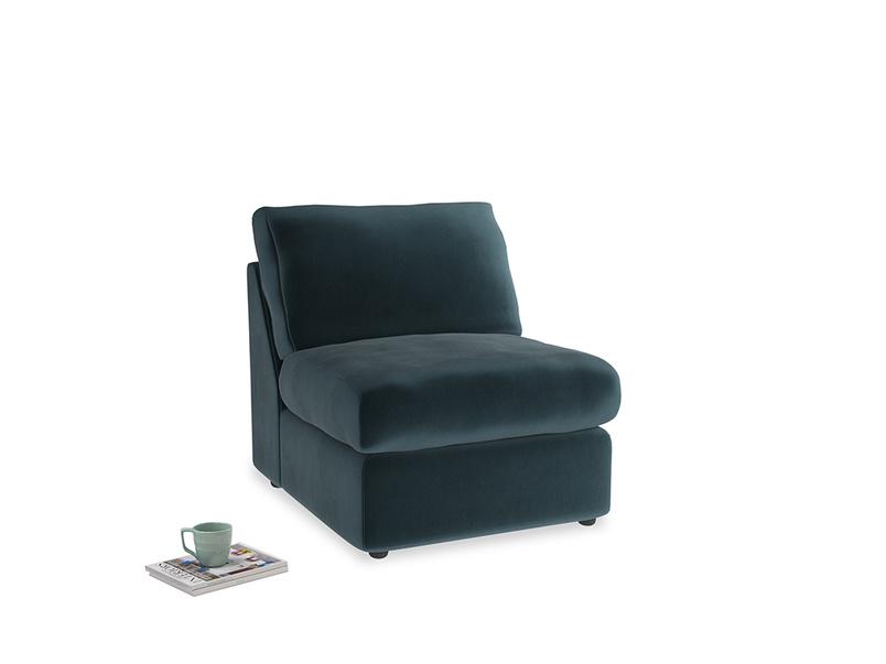 Chatnap Storage Single Seat in Bluey Grey Clever Deep Velvet