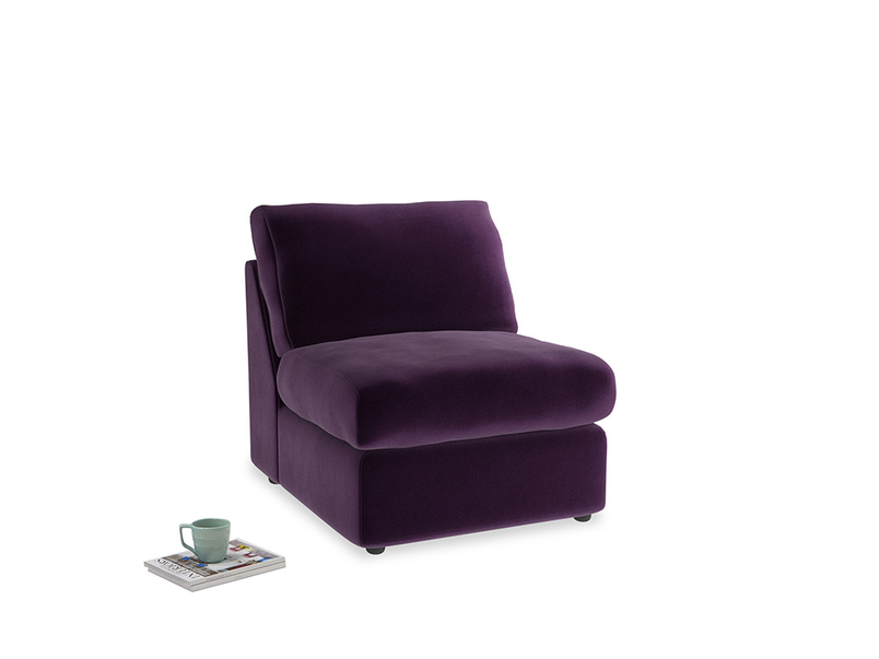 Chatnap Storage Single Seat in Deep Purple Clever Deep Velvet