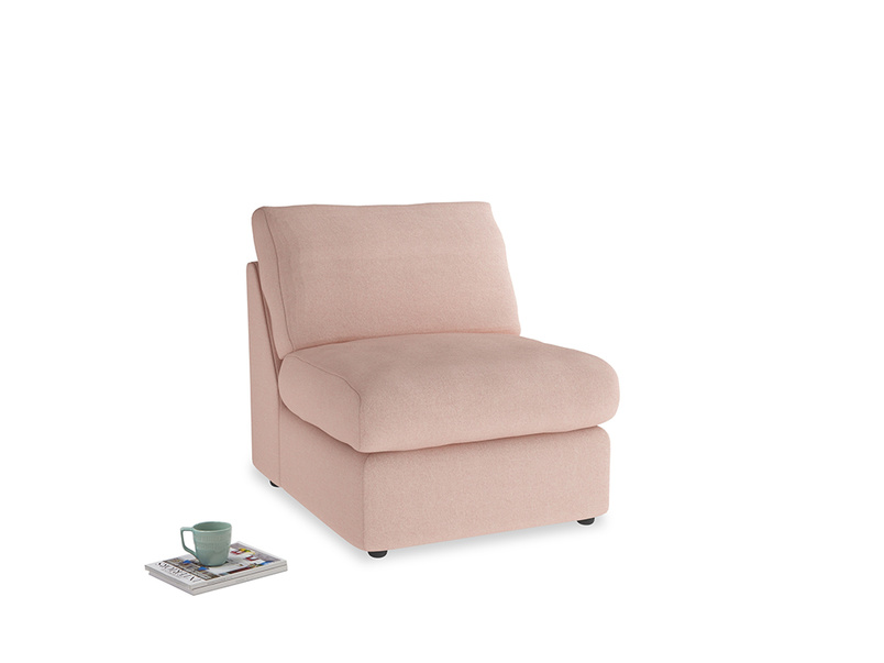 Chatnap Storage Single Seat in Pale Pink Clever Woolly Fabric