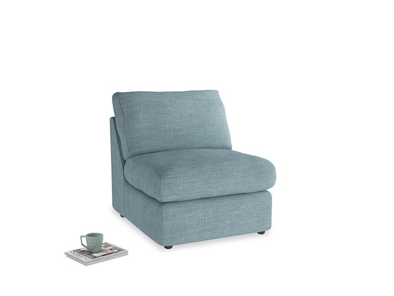 Chatnap Storage Single Seat in Soft Blue Clever Laundered Linen