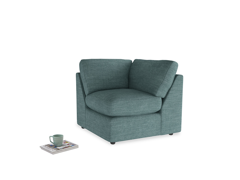 Chatnap Corner Unit in Blue Turtle Clever Laundered Linen