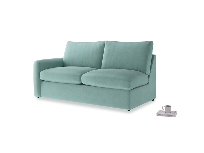 Chatnap Sofa Bed in Greeny Blue Clever Deep Velvet with a left arm