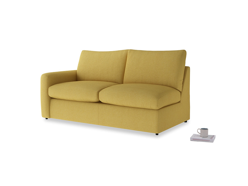 Chatnap Sofa Bed in Easy Yellow Clever Woolly Fabric with a left arm