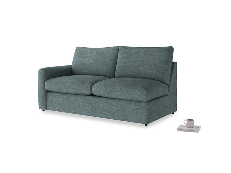 Chatnap Sofa Bed in Anchor Grey Clever Laundered Linen with a left arm