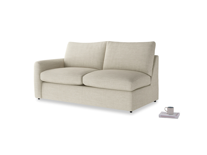 Chatnap Sofa Bed in Shell Clever Laundered Linen with a left arm