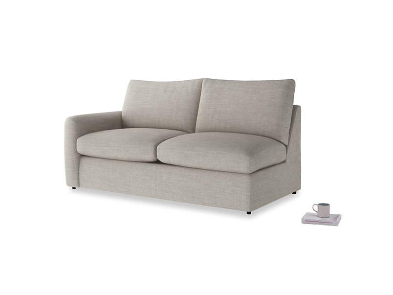 Chatnap Storage Sofa in Grey Daybreak Clever Laundered Linen with a left arm