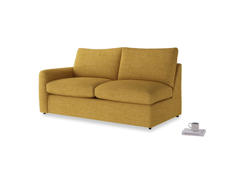 Chatnap Storage Sofa in Mellow Yellow Clever Laundered Linen with a left arm