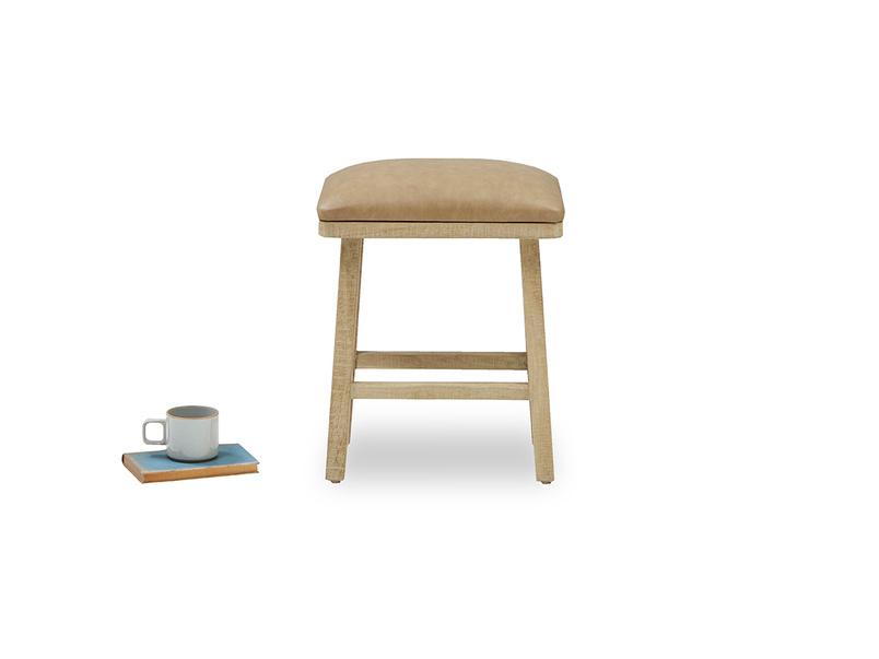 Little Bumpkin small kitchen leather stool