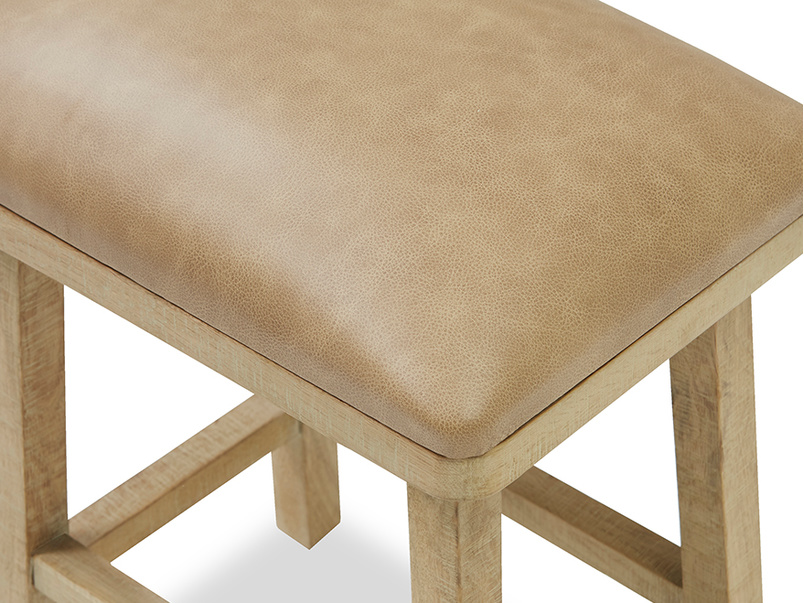Little Bumpkin kitchen stool leather top detail