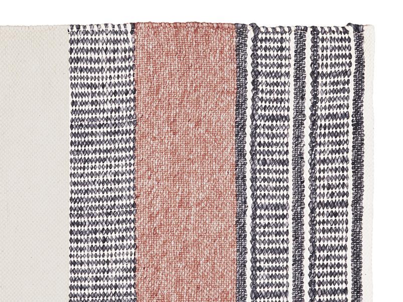 Siesta pattern floor rug corner detail