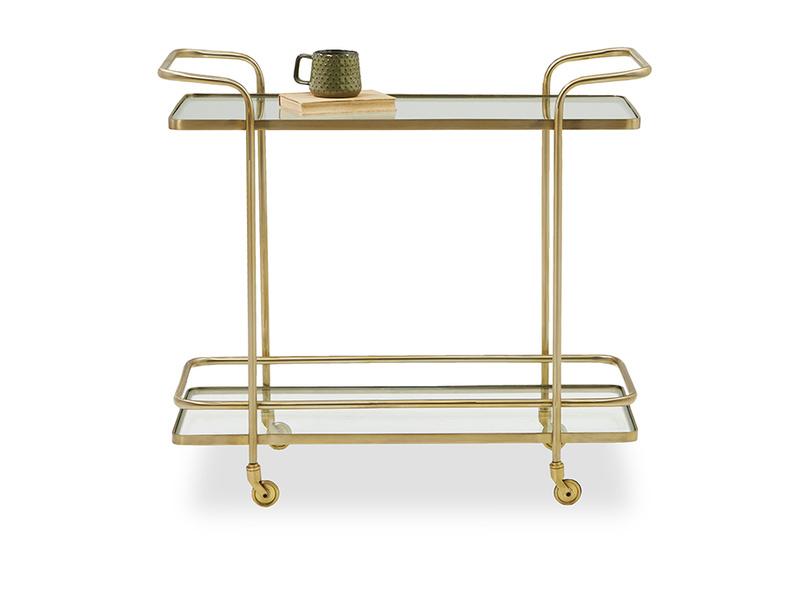 Big Soak brass drinks trolley