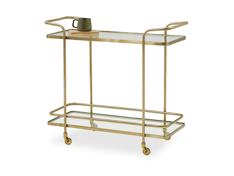 Big Soak glass drinks trolley