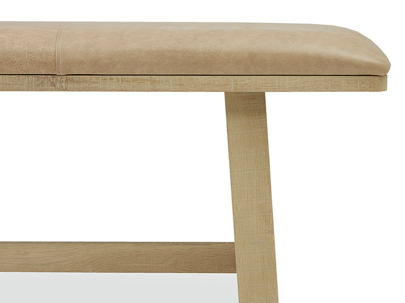 Bumpkin kitchen bench leather side detail