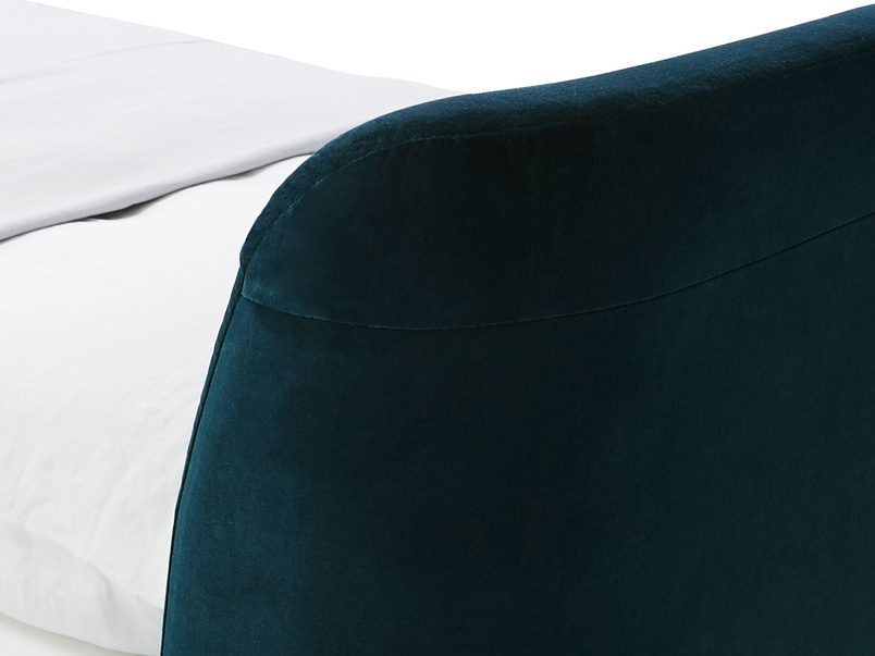 Puffball upholstered bed