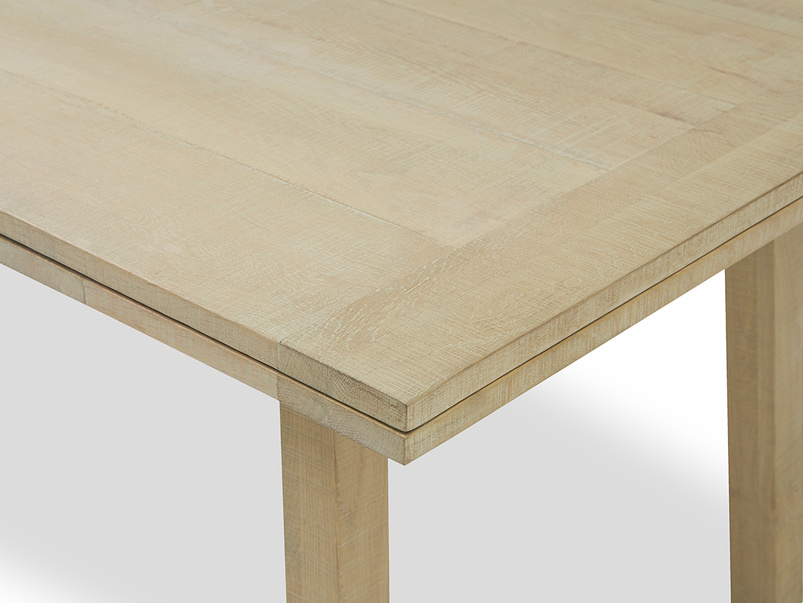 Country Mile kitchen table corner wooden detail