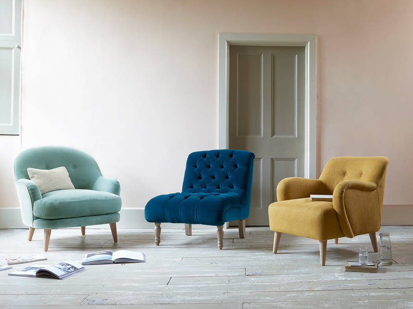 Upholstered occasional chairs
