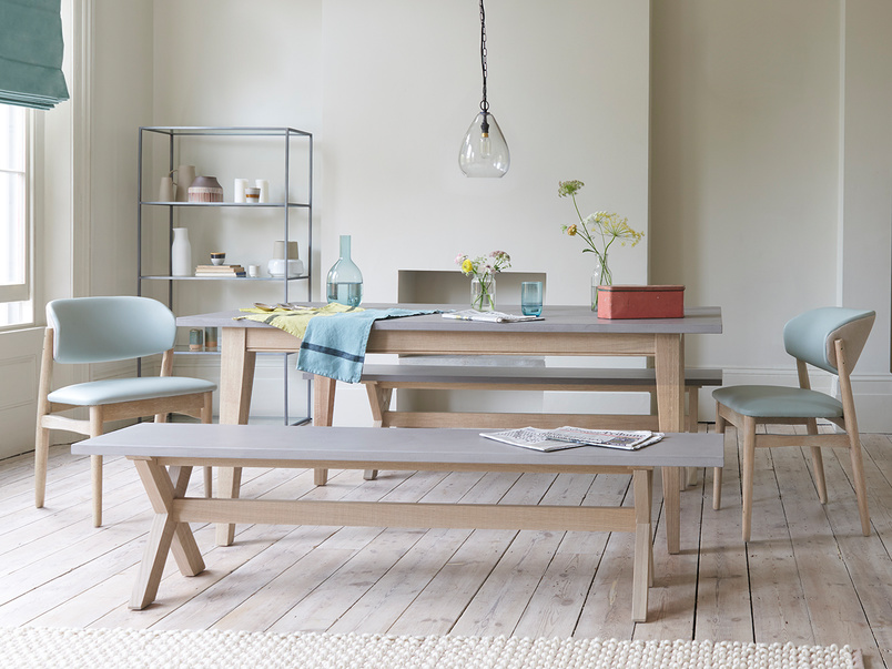 Conker concrete top kitchen dining table
