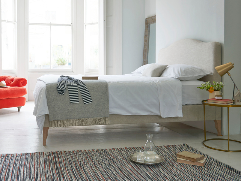 Luna beautiful French style upholstered bed handmade in England