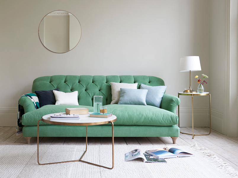 Truffle button back contemporary sofa