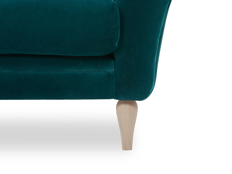 Tubbie occasional chair front leg detail