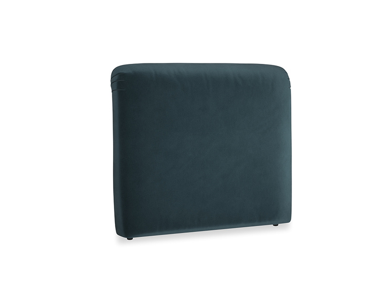 Double Cookie Headboard in Bluey Grey Clever Deep Velvet