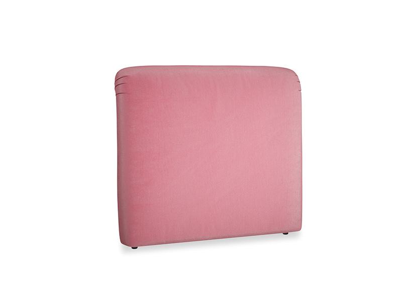 Double Cookie Headboard in Blushed pink vintage velvet