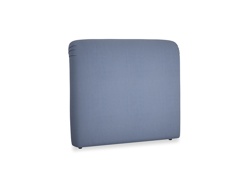 Double Cookie Headboard in Breton blue clever cotton